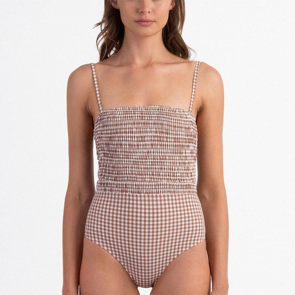 Almond Smocked One Piece