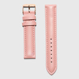 women's leather strap convertible - pink color - 18 mm- Kraek