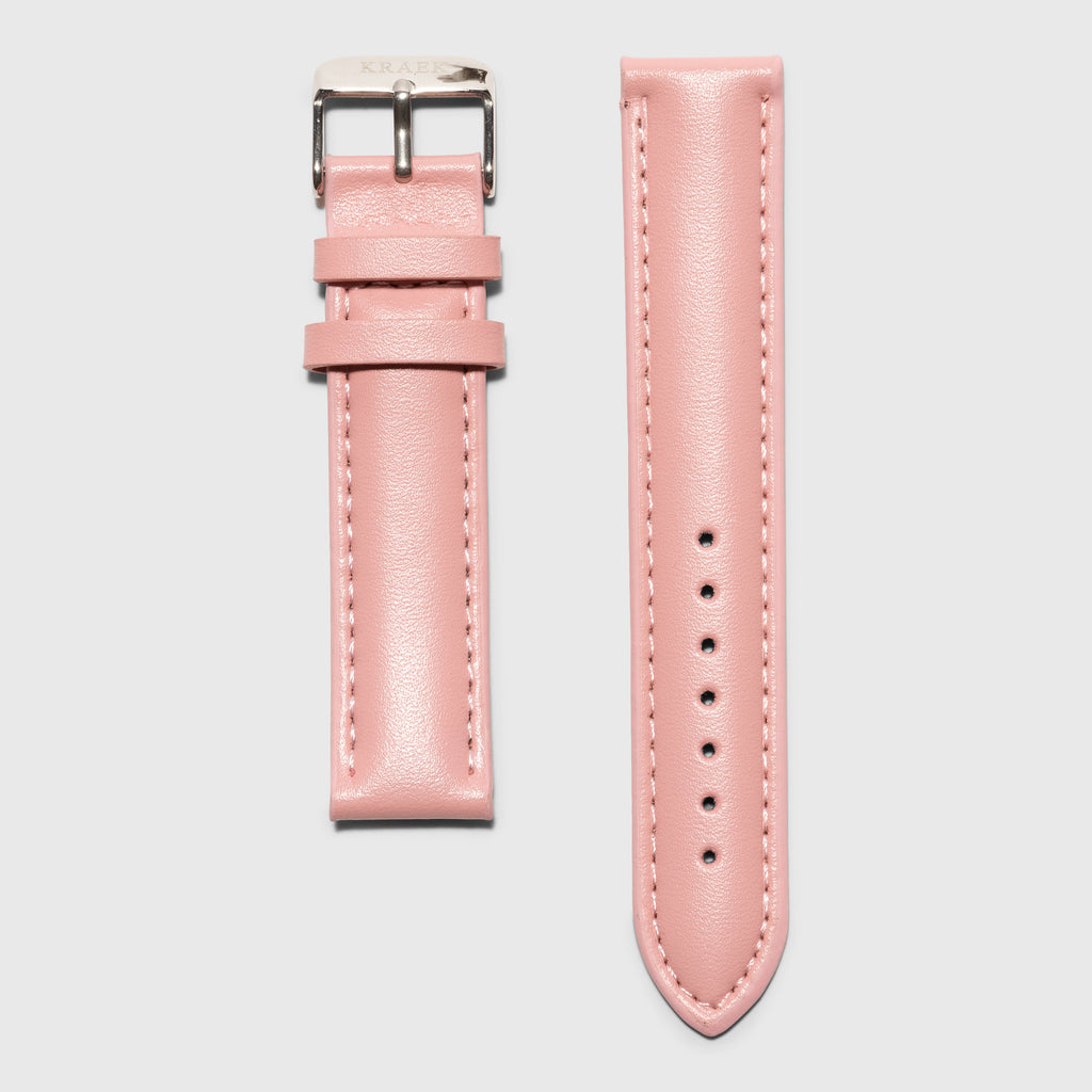 Pink leather women's strap convertible - Kraek