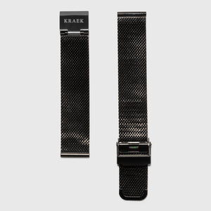 Black mesh women's strap convertible - Black mesh -  Kraek - 18mm