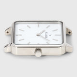 Silver square case - women's watch - white dial - Kraek