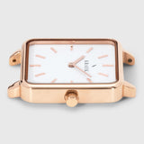 Rose gold square case - women's watch - white dial - Kraek