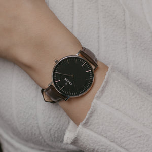 Chloë | Silver | Brown | 36 mm