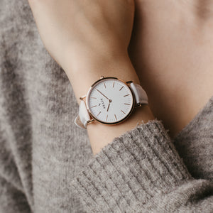 Robyn | Rose Gold | White | 36 mm