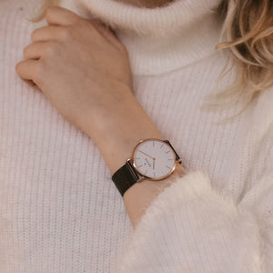 Drora | Rose Gold | Mesh | 36 mm