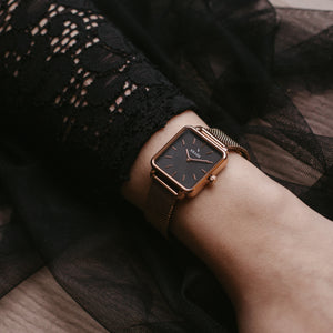 Fay | Rose Gold | Mesh | 28 mm