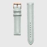 Mint Leather Strap - For 36 and 38 mm watches - Rose gold buckle