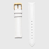 Gold women's strap - white leather strap - convertible - Kraek