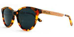 Hayden // Tortoise Acetate & Wood // Polarized - SOL Stoked On Life  - 2