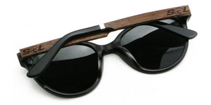 Hayden // Black Acetate & Wood // Polarized - SOL Stoked On Life  - 3
