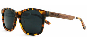 Magz // Tortoise Acetate & Wood // Polarized - SOL Stoked On Life  - 1