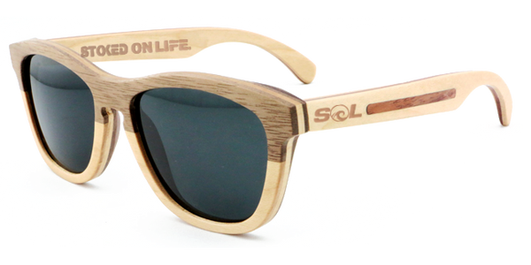Leven // Walnut-Maple Two Tone // Polarized - SOL Stoked On Life  - 1