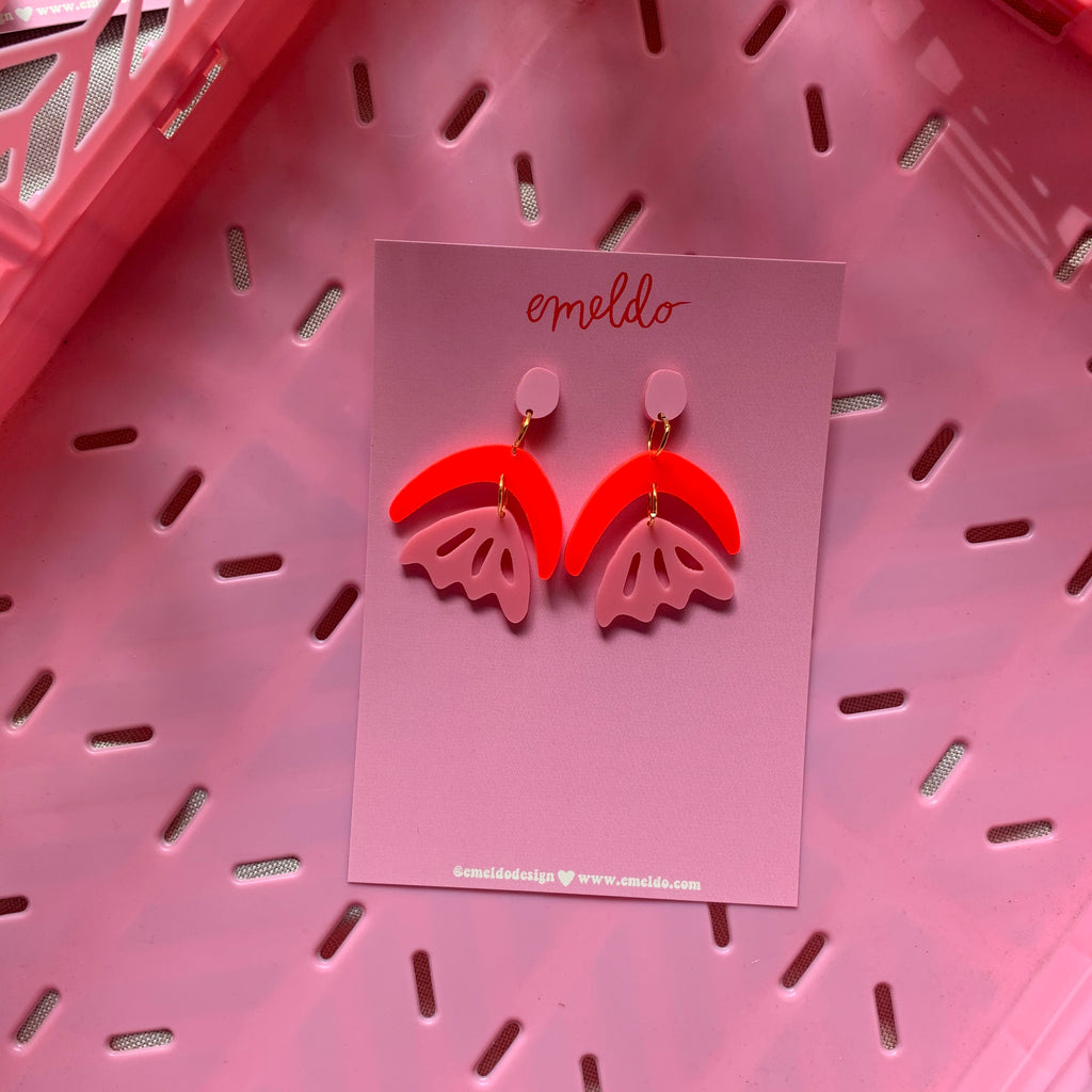 Arlie Earrings // Pink + Red
