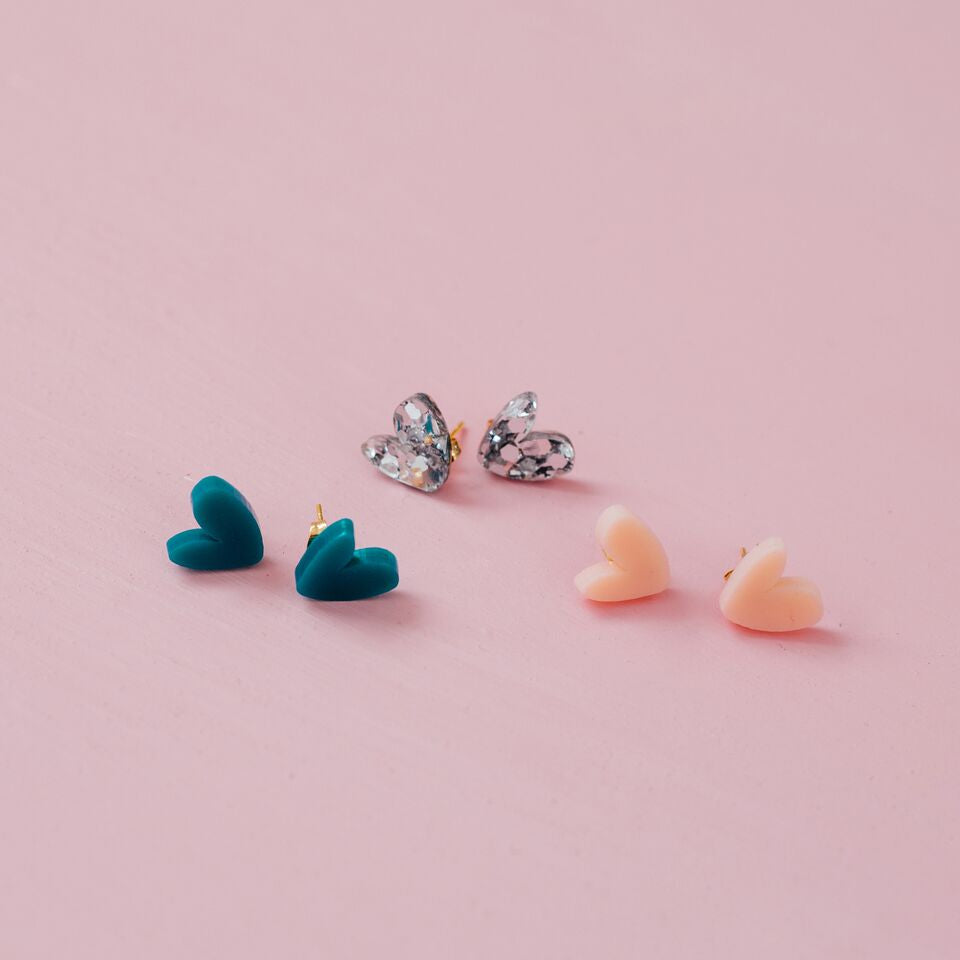 Heart Studs // Select Colour