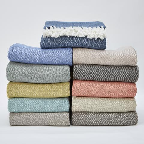 Diamond Patterned Blankets Made From 40% Recycled Plastic Bottles Best Patterned Blankets
