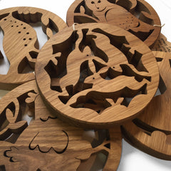 Beamers Designs Oak Pot Stands
