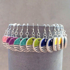 Isla Clay - Circle Dangle Earrings