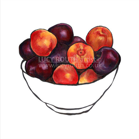 "Lucy Routh ""Summer Plums"" Limited Edition Print"