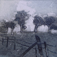 "Sarah Ross Thompson Limited Edition Collagraph ""Mist Trees"" (8/30)"