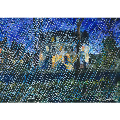"Peter Matthews ""Rain. Salisbury Cathedral Close"" Limited Edition Giclée Print (No. 3/75)"