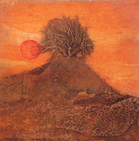"Sarah Ross Thompson Limited Edition Collagraph ""Playing with Fire"" (6/30)"