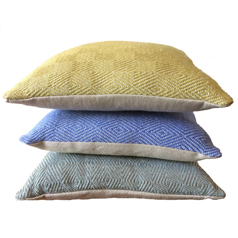 Cushions made from 100% recycled plastic bottles by Weaver Green