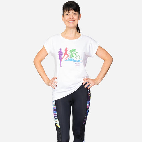 Trigirl Damen Triathlon T-shirt in Weiss.