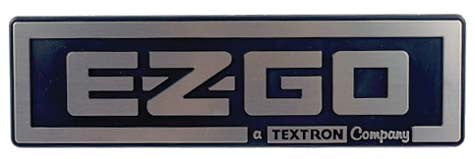 Nameplate, E-Z-Go , Silver & Black Med/Txt 1994-Up