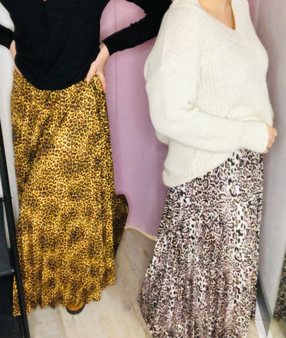 jupe leopard blanche