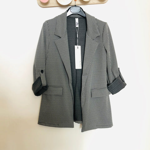 Blazer carreau noir