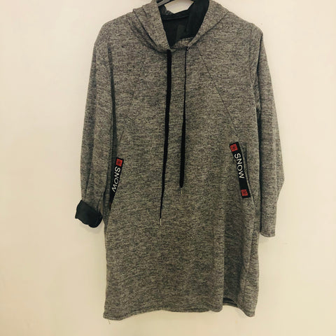 Robe pull sport gris