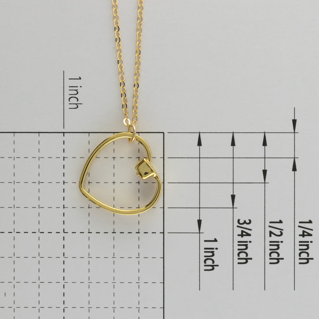 Heart short necklace A-043