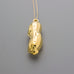 Gold coated peanut long necklace A-061