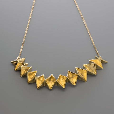 A-073 Fabric Origami Short Necklace