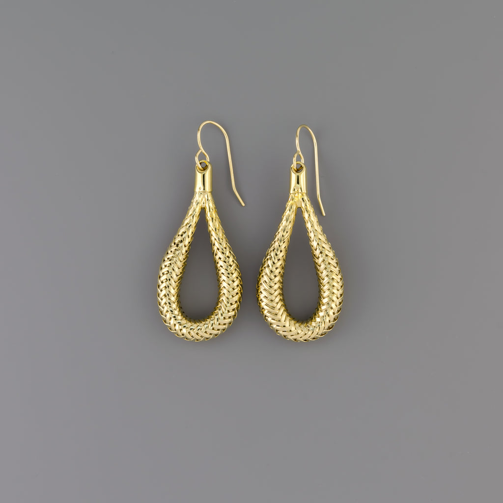 Braided drop earrings A-078