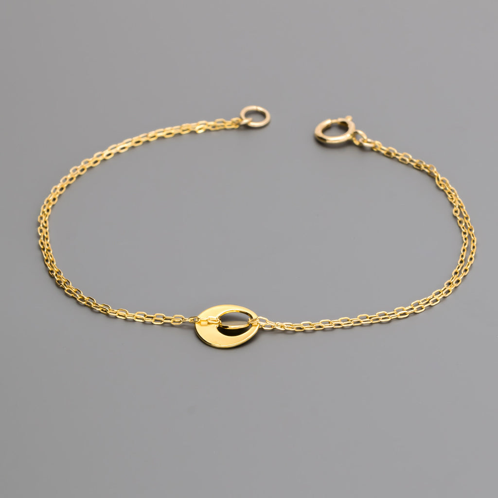 pebble chain bracelet A-082