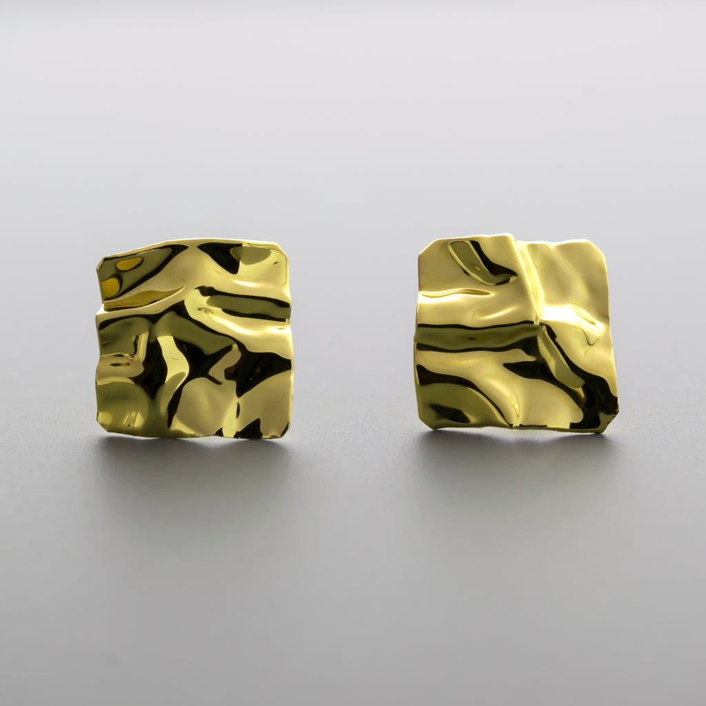 Origami stud earrings A-095