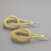 Knotted gold braid earrings A-111