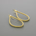 Gold coated wound rope earrings A-120