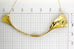 Gold coated plisse fabric short necklace A-033 A-121
