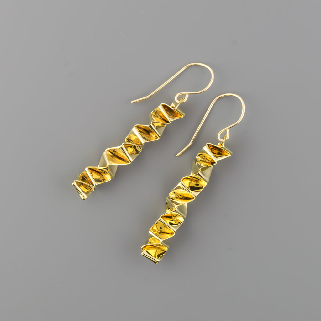 Paper chain earrings, short A-199