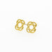 2 hearts star of David stud earrings A-210