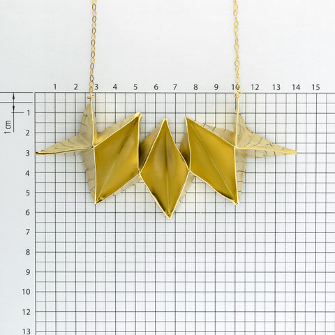 Fabric Origami Long Necklace A-470