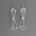 2 pyramids outline earrings A-868