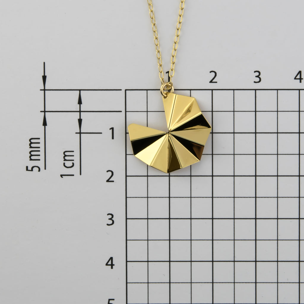 Origami Tessellation Short Necklace A-956