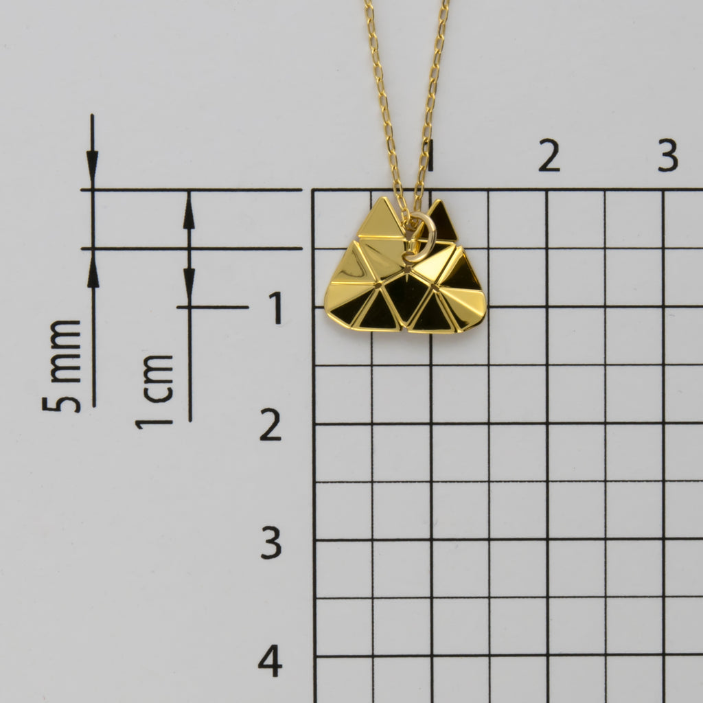 Origami Tessellation Short Necklace B-054