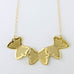 3 Butterflies Buildings Short Necklace