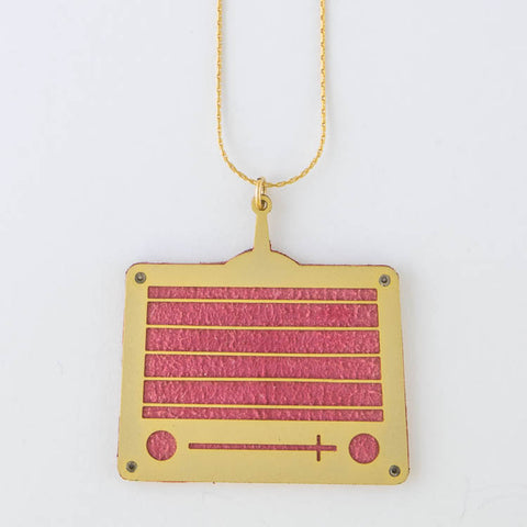 vintage Radio Long Necklace