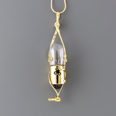 Light Bulb Long Necklace N1