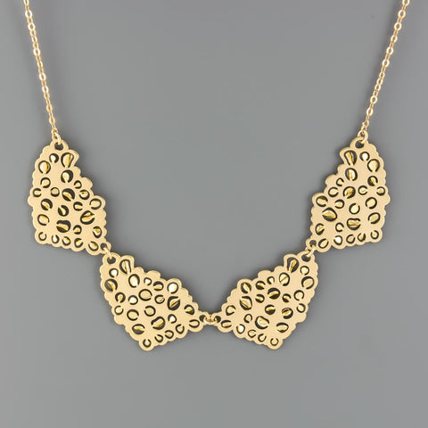 4 Mirrord Bubbles Short Necklace